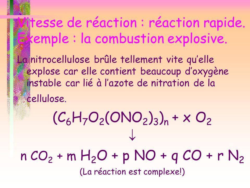 (La réaction est complexe!)