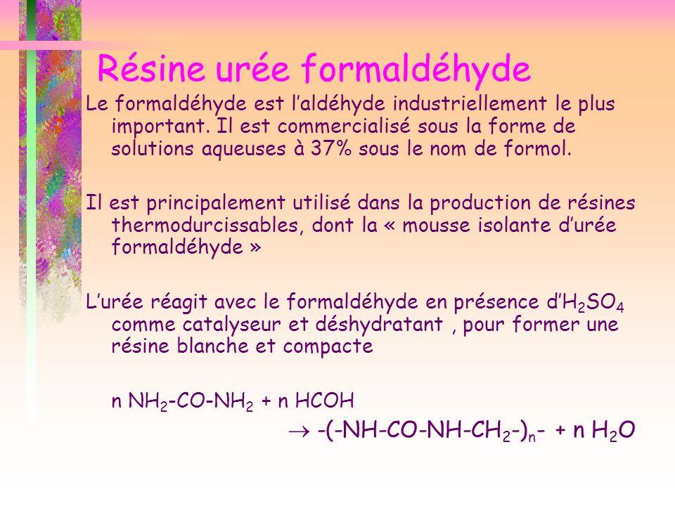 Résine urée formaldéhyde