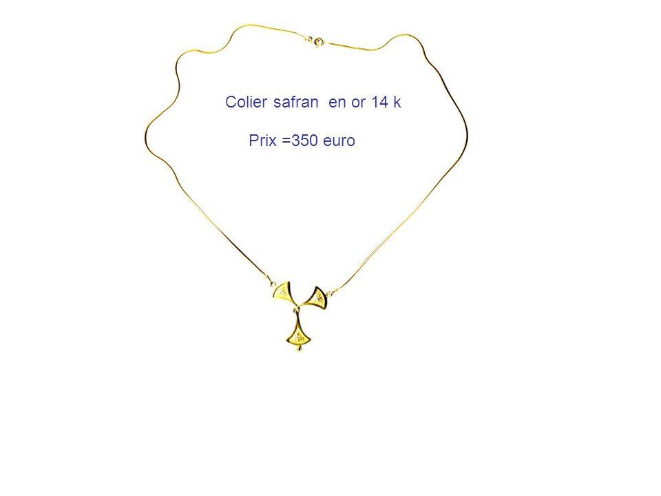Colier safran en or 14 k Prix =350 euro