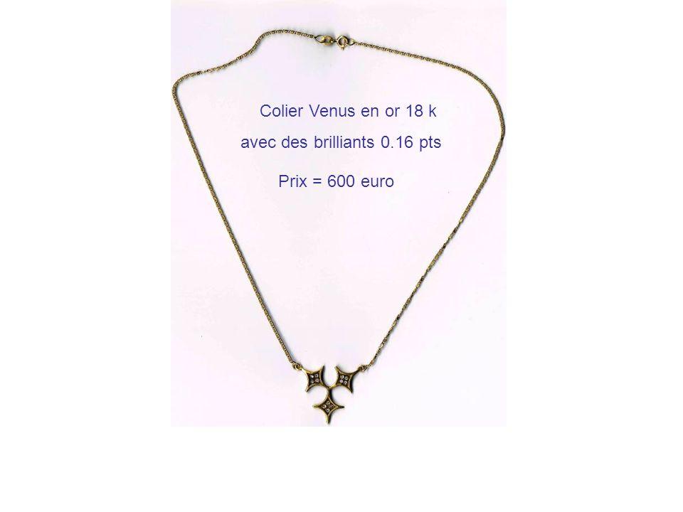 Colier Venus en or 18 k avec des brilliants 0.16 pts Prix = 600 euro