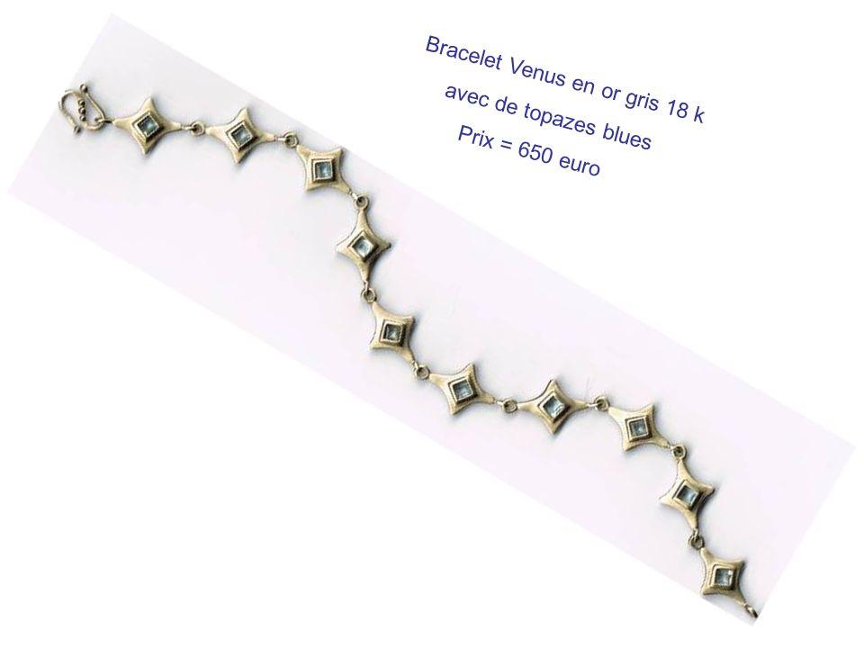 Bracelet Venus en or gris 18 k
