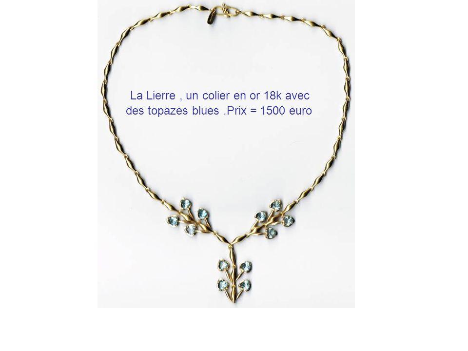 La Lierre , un colier en or 18k avec des topazes blues