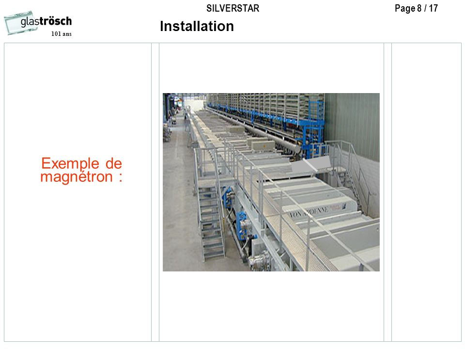 Installation Exemple de magnétron :