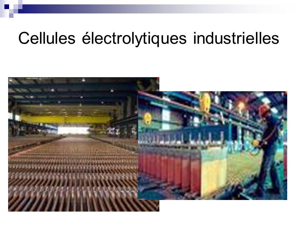 Cellules électrolytiques industrielles