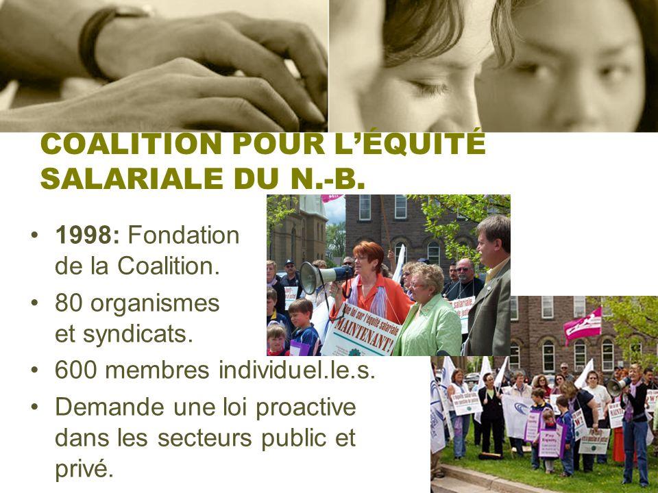 COALITION POUR L'ÉQUITÉ SALARIALE DU N.-B.