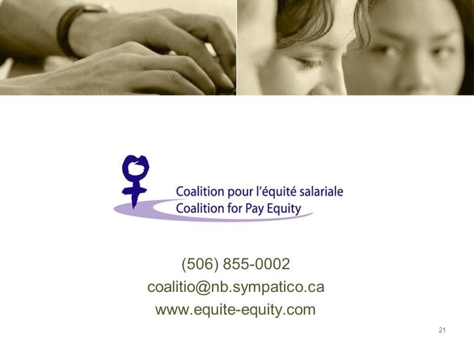 (506) 855-0002 coalitio@nb.sympatico.ca www.equite-equity.com