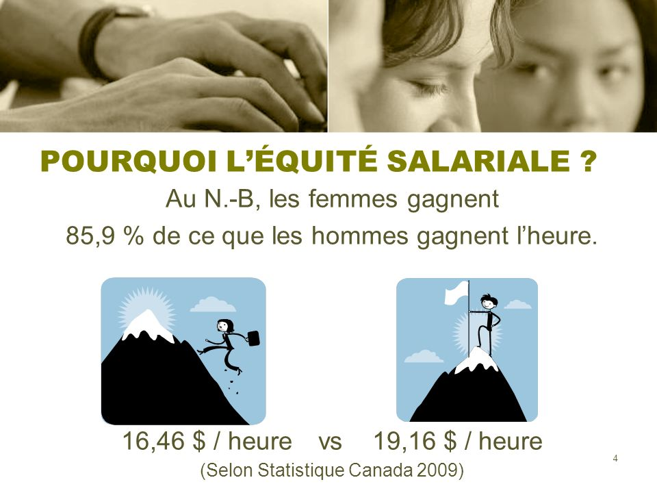 POURQUOI L'ÉQUITÉ SALARIALE
