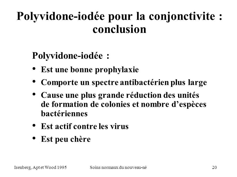 Polyvidone-iodée pour la conjonctivite : conclusion