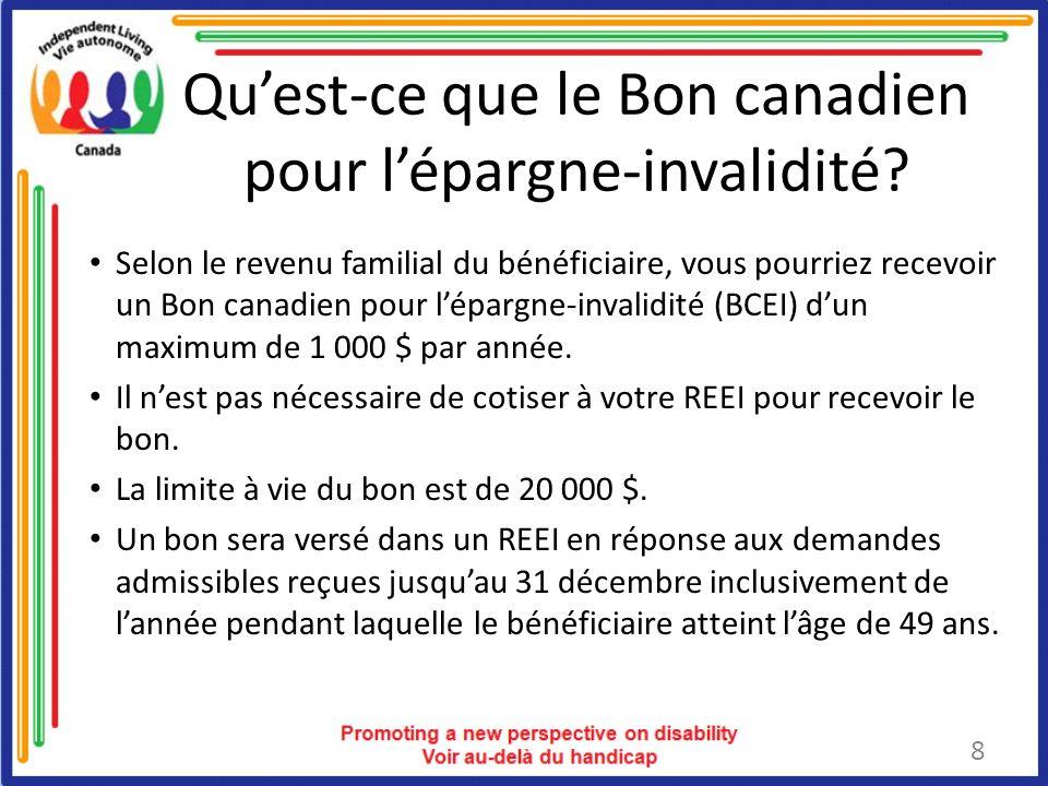 Qu'est-ce que le Bon canadien pour l'épargne-invalidité