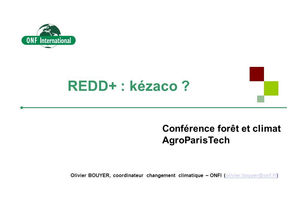 REDD+ : kézaco Conférence forêt et climat AgroParisTech