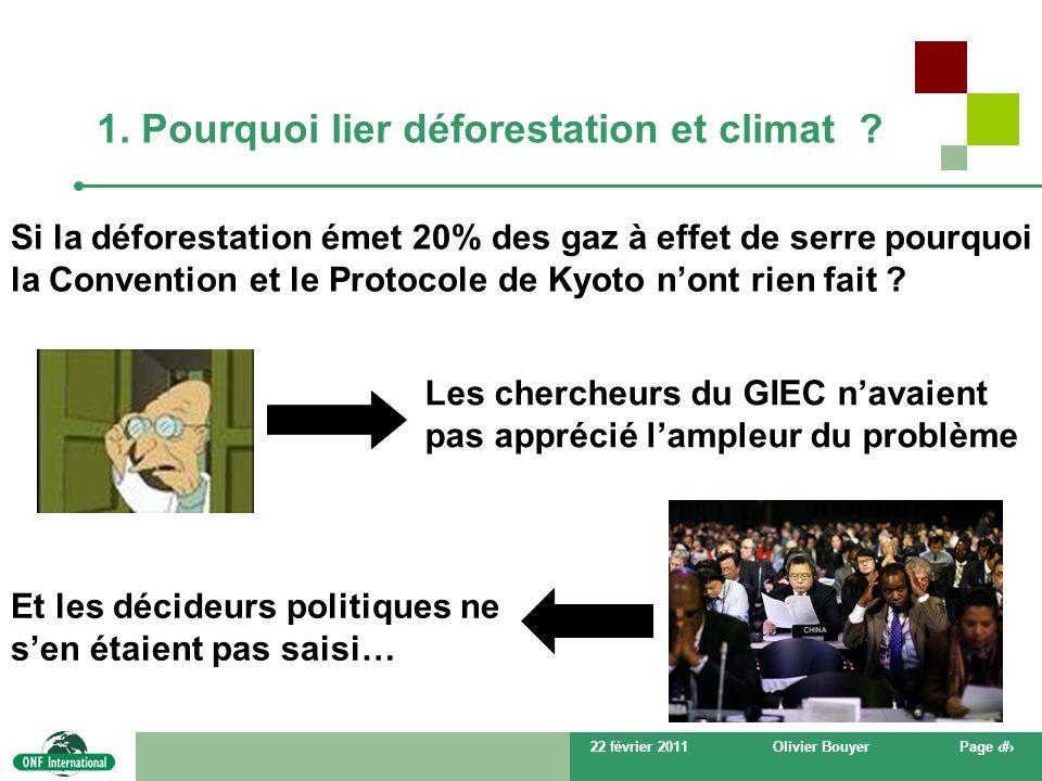 1. Pourquoi lier déforestation et climat