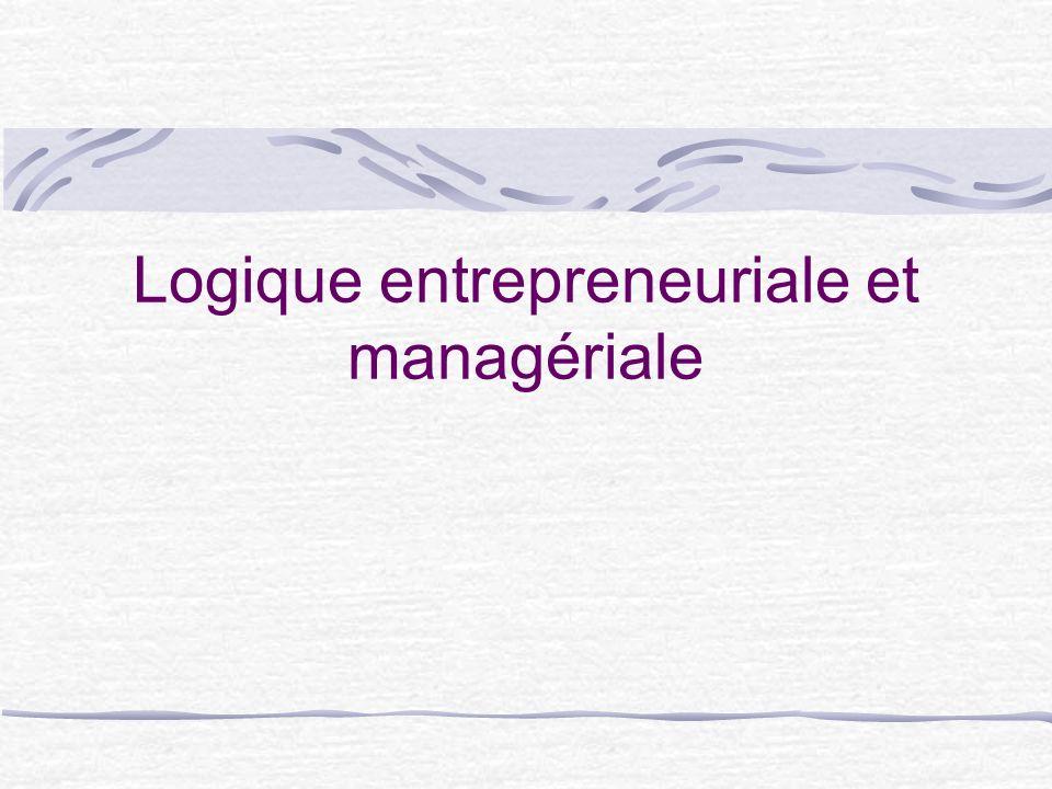 Logique entrepreneuriale et managériale