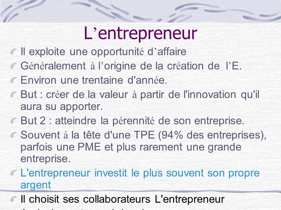 L'entrepreneur Il exploite une opportunité d'affaire