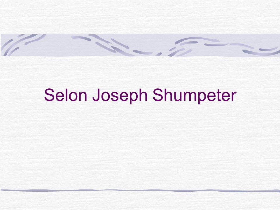 Selon Joseph Shumpeter