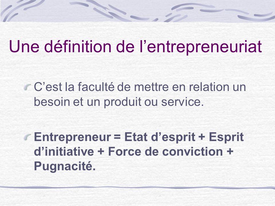 Une définition de l'entrepreneuriat