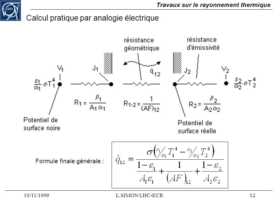 Calcul pratique par analogie électrique
