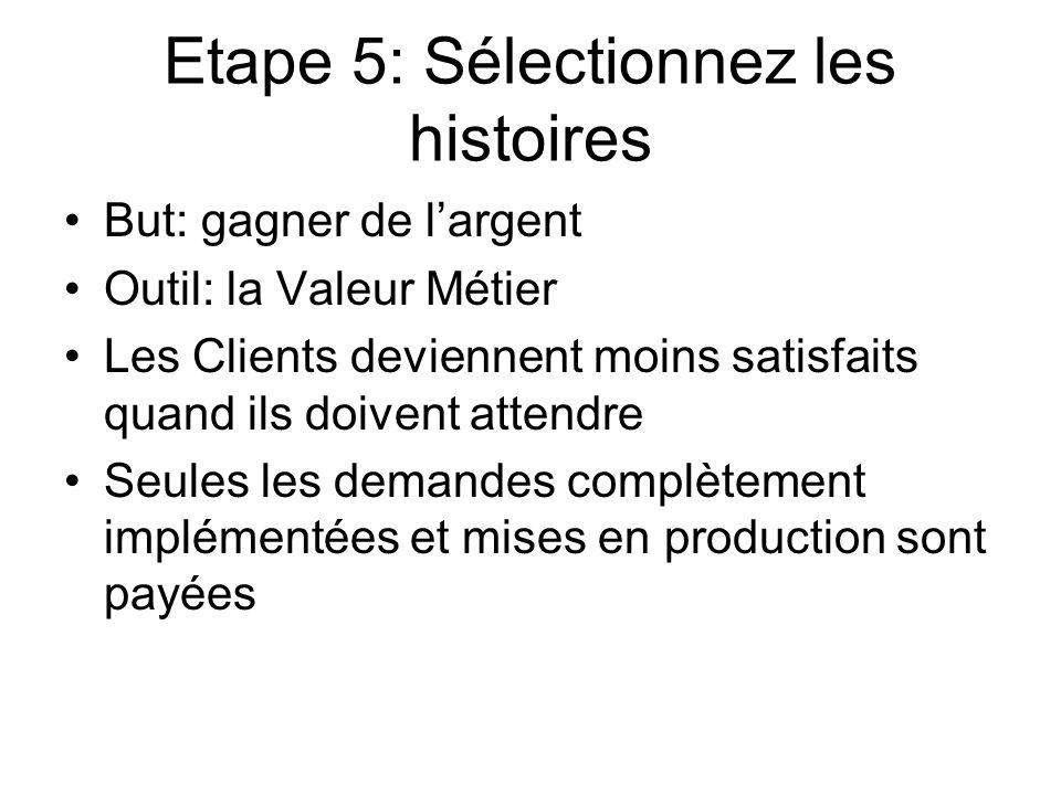 Etape 5: Sélectionnez les histoires