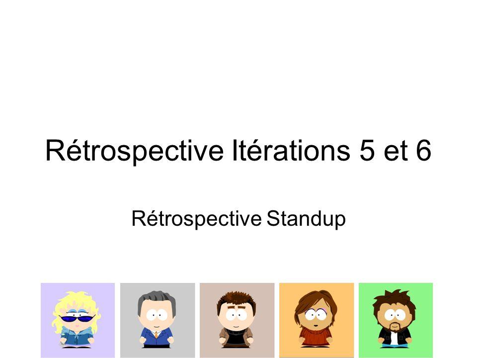 Rétrospective Itérations 5 et 6