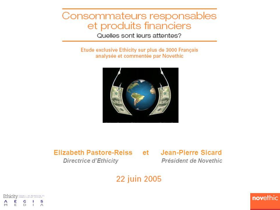 Elizabeth Pastore-Reiss et Jean-Pierre Sicard Directrice d'Ethicity