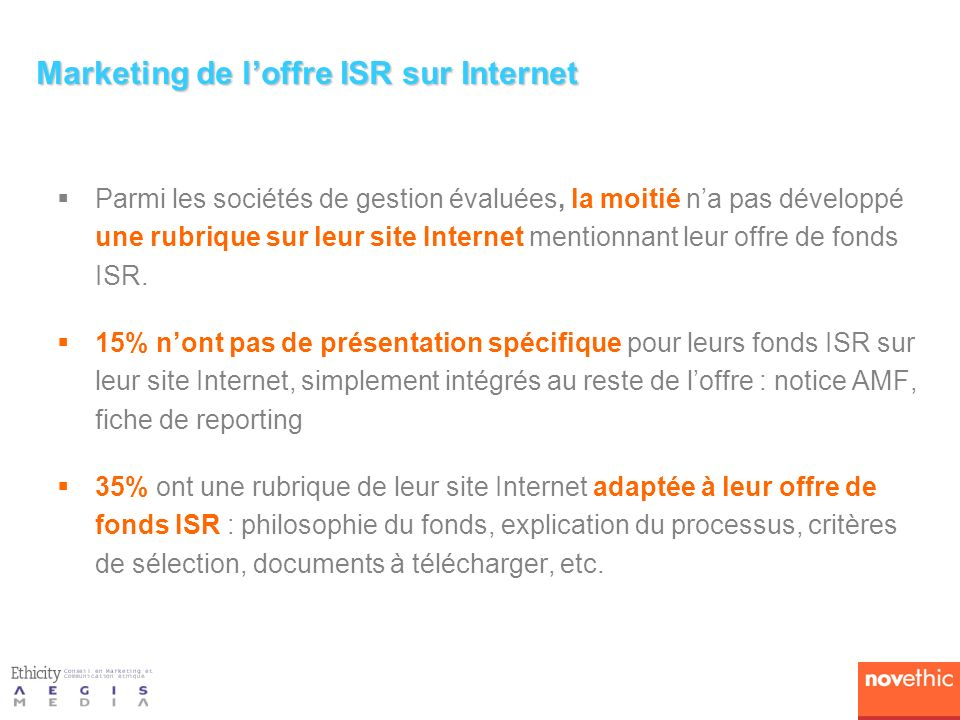 Marketing de l'offre ISR sur Internet