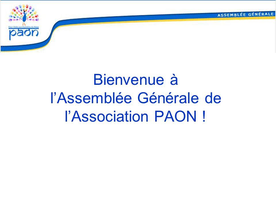 Bienvenue à l'Assemblée Générale de l'Association PAON !