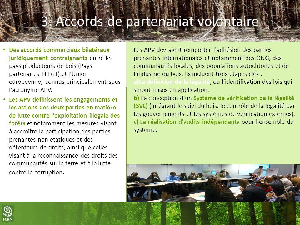 3. Accords de partenariat volontaire