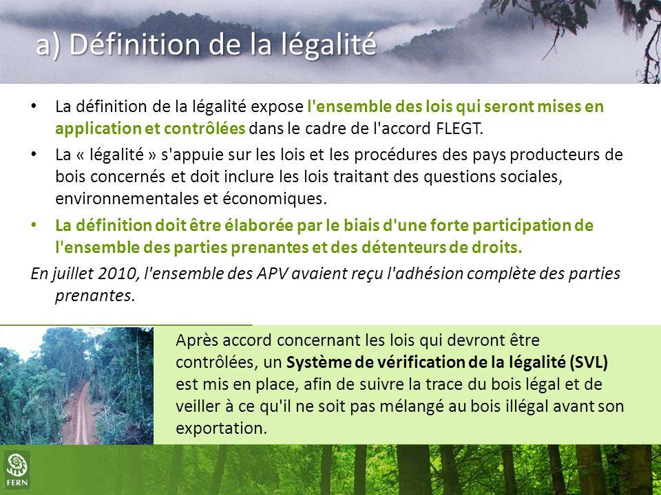 a) Définition de la légalité