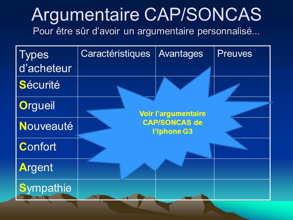 Voir l'argumentaire CAP/SONCAS de l'Iphone G3