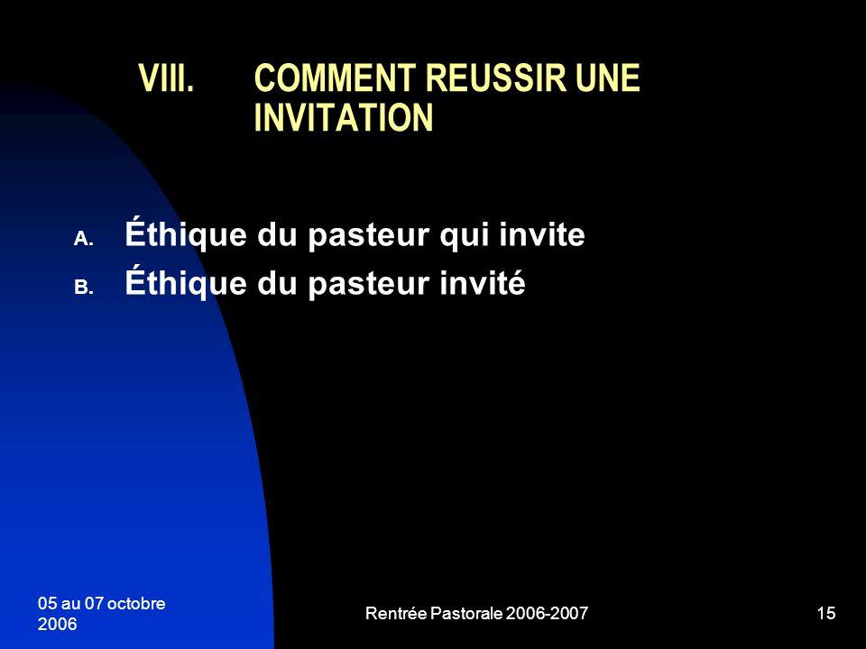 COMMENT REUSSIR UNE INVITATION