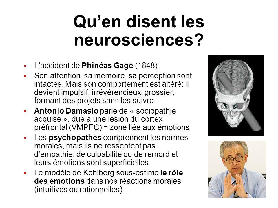 Qu'en disent les neurosciences