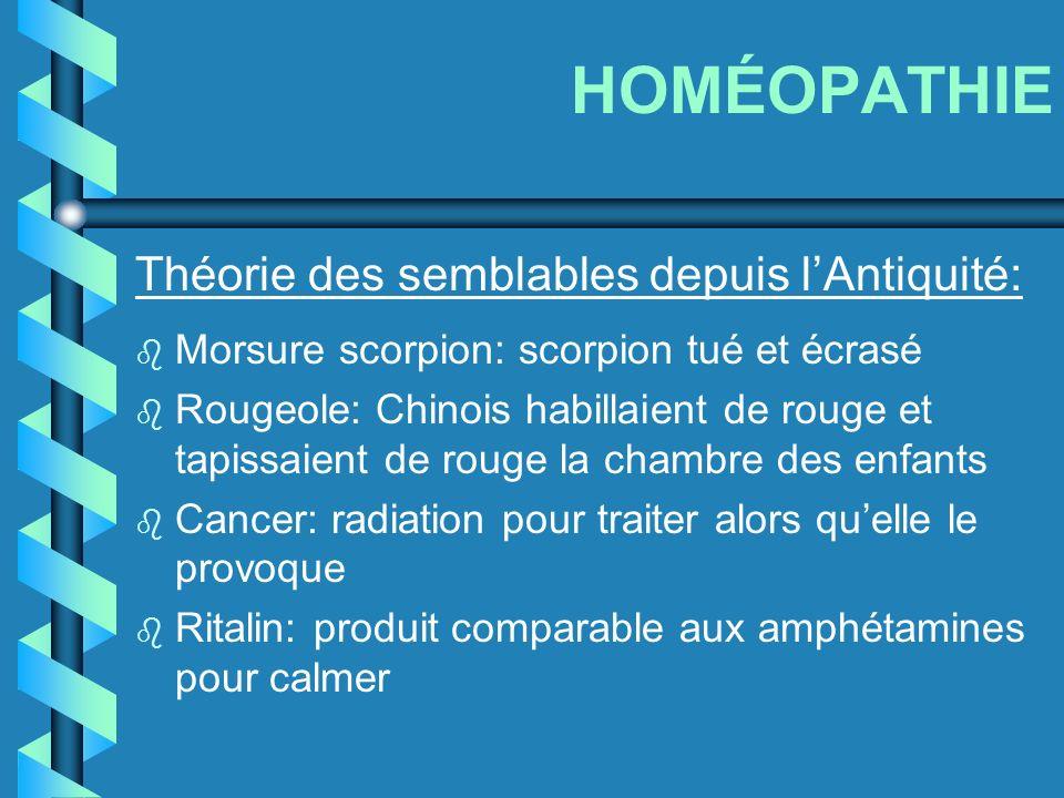 HOMÉOPATHIE Théorie des semblables depuis l'Antiquité: