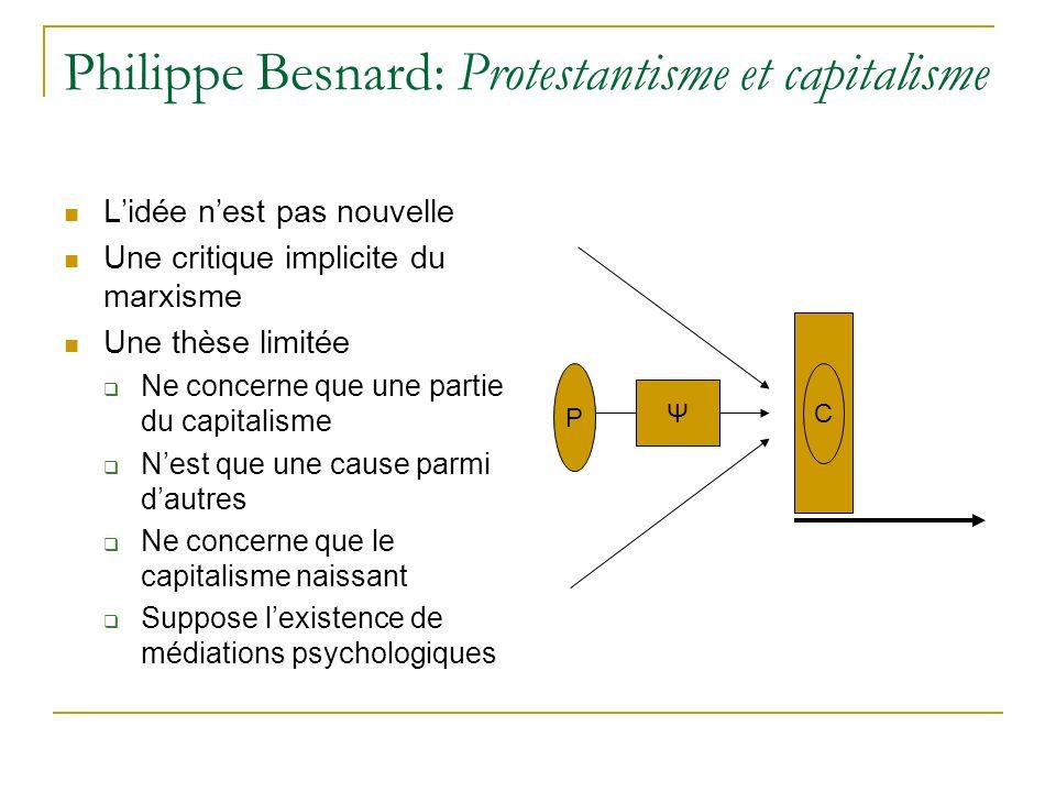 Philippe Besnard: Protestantisme et capitalisme