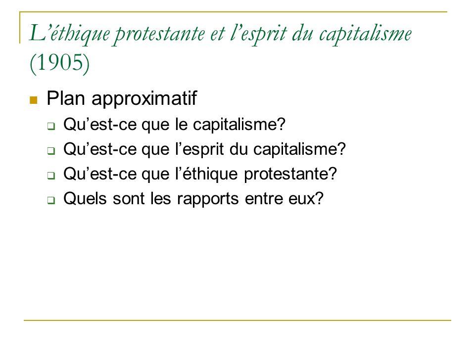 L'éthique protestante et l'esprit du capitalisme (1905)