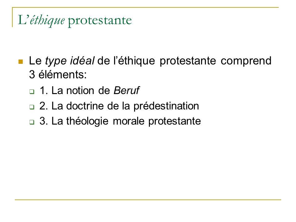 L'éthique protestante