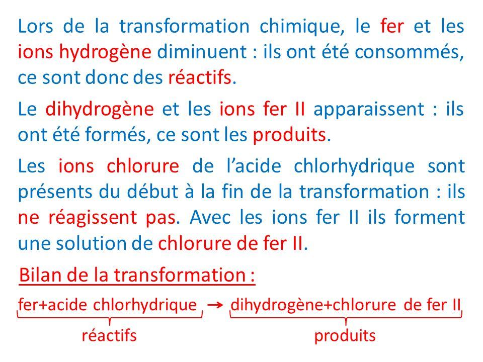 Bilan de la transformation :