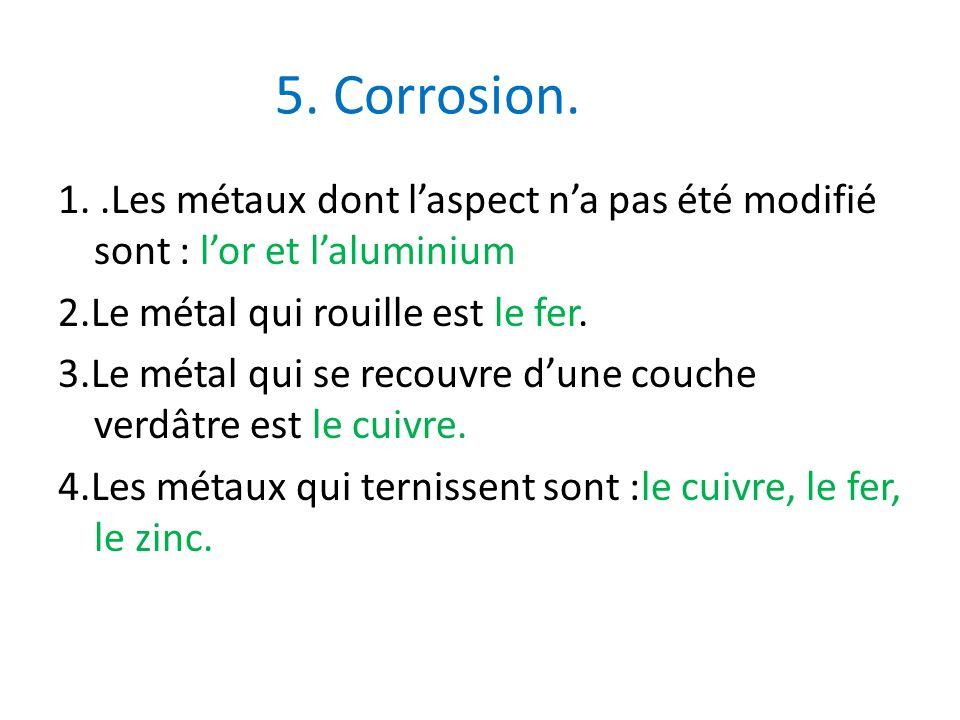5. Corrosion.