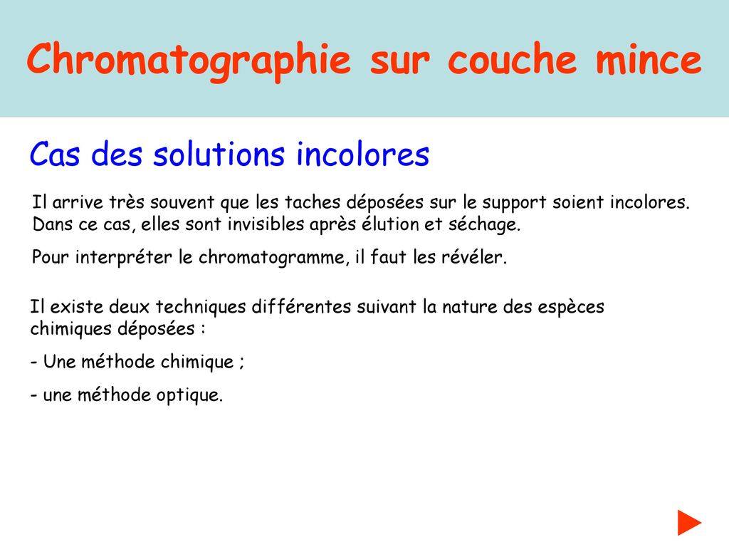 chromatographie sur couche mince ppt t l charger. Black Bedroom Furniture Sets. Home Design Ideas