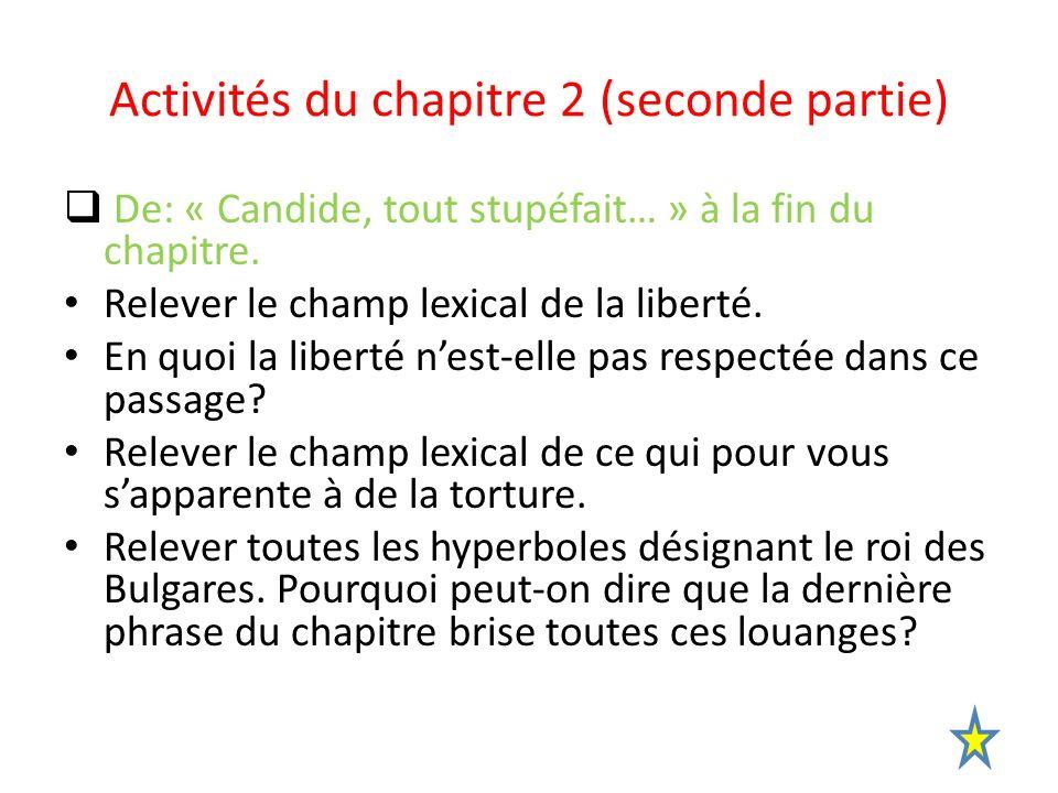 Activités du chapitre 2 (seconde partie)