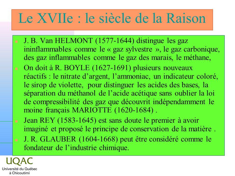 Le XVIIe : le siècle de la Raison