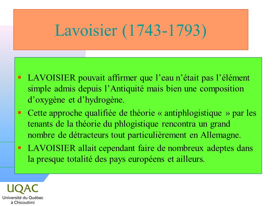 Lavoisier (1743-1793)