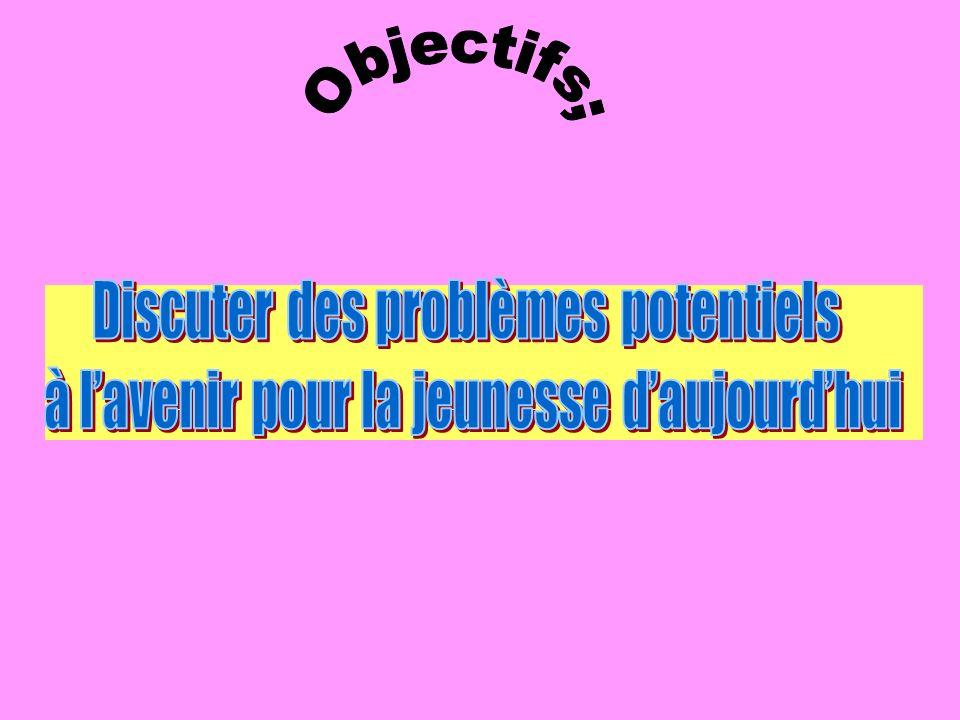 Objectifs; Discuter des problèmes potentiels