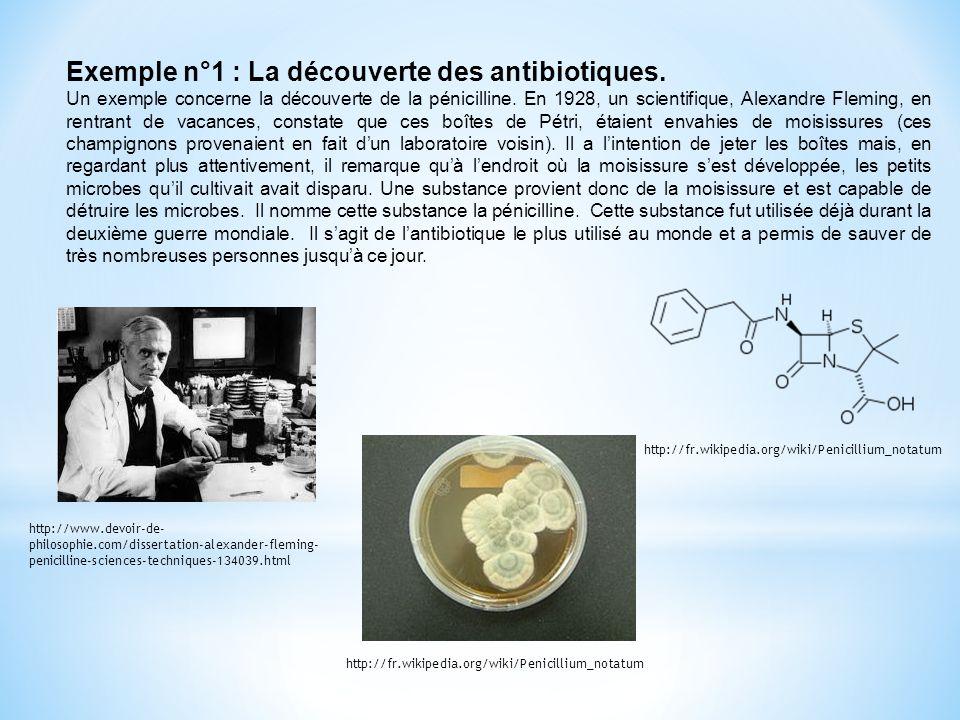 Exemple n°1 : La découverte des antibiotiques.