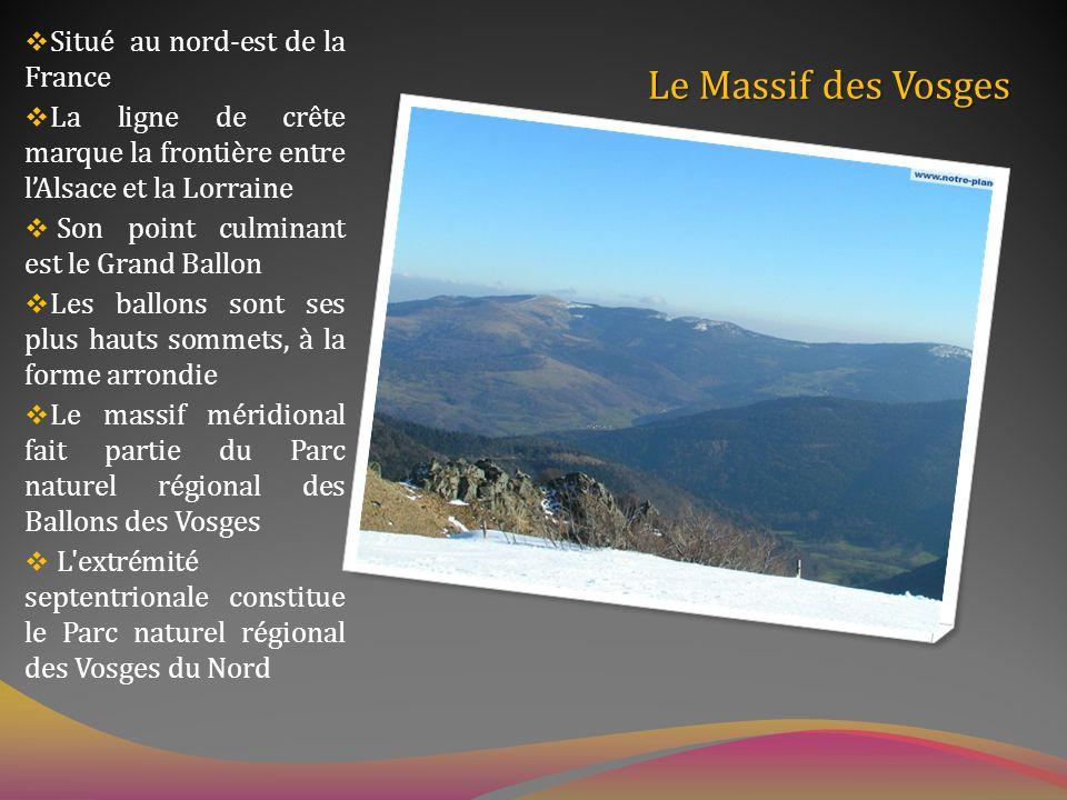 Le Massif des Vosges Situé au nord-est de la France