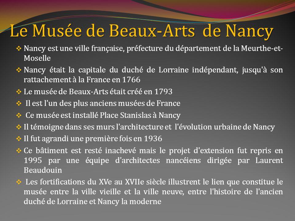 Le Musée de Beaux-Arts de Nancy
