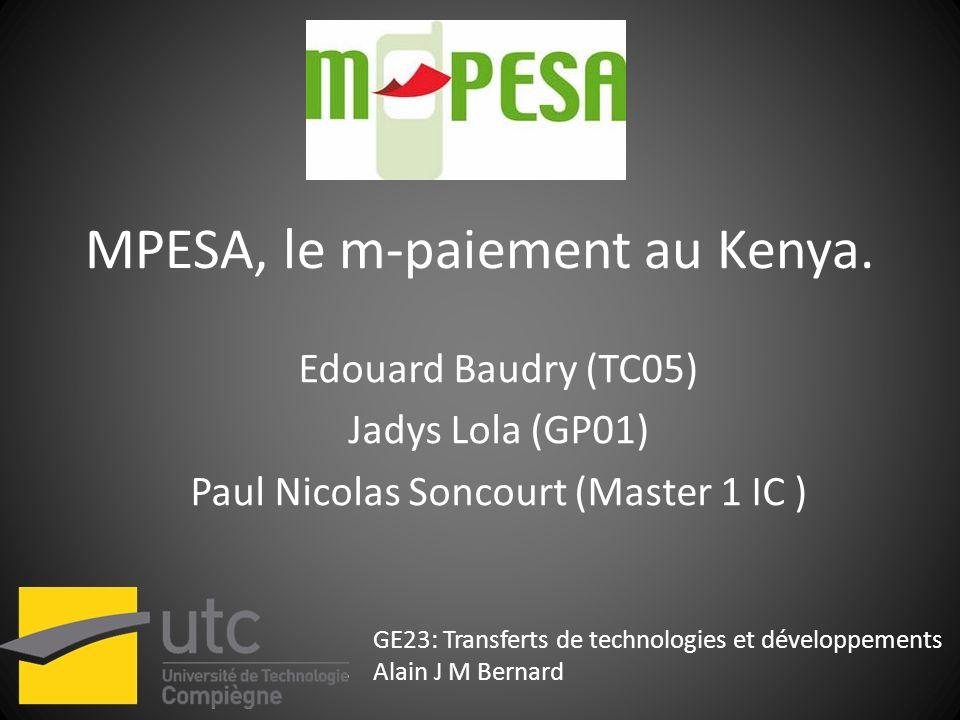 MPESA, le m-paiement au Kenya.
