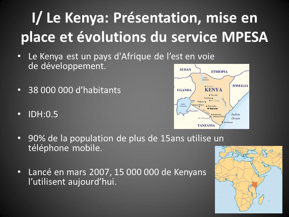 I/ Le Kenya: Présentation, mise en place et évolutions du service MPESA