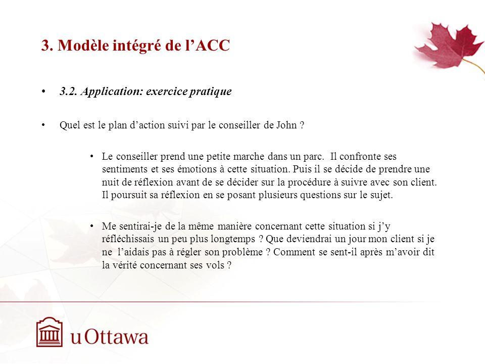 3. Modèle intégré de l'ACC