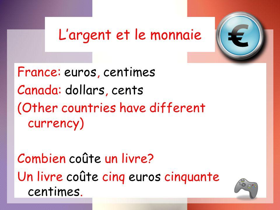 L'argent et le monnaie