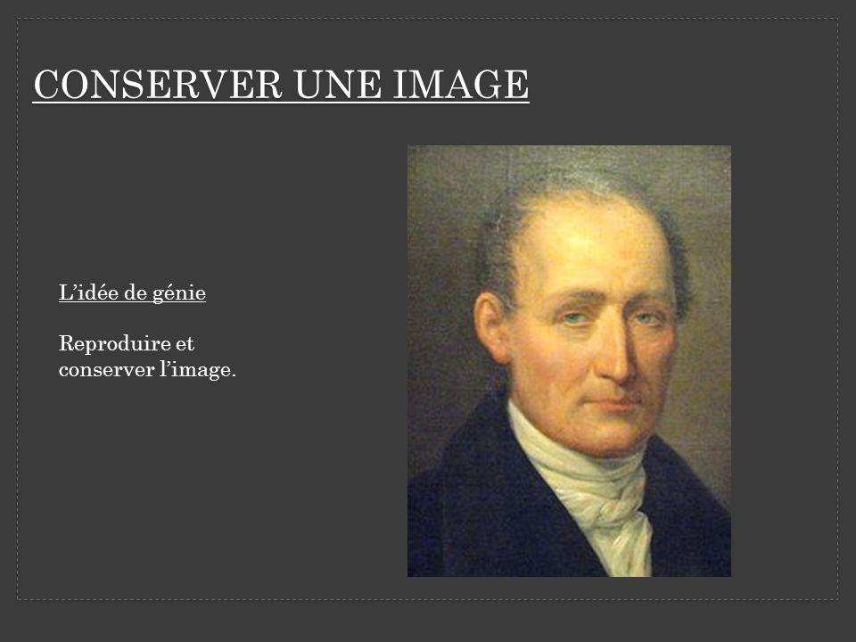 CONSERVER UNE IMAGE L'idée de génie Reproduire et conserver l'image.