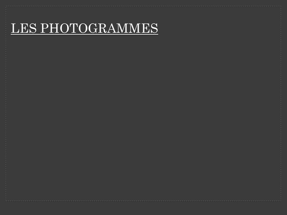 LES PHOTOGRAMMES